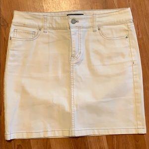 WHBM | White Denim Skirt